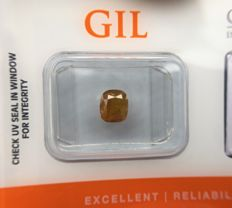 1.20 ct - Natural Diamond - N. Fancy DEEP Orangy Yellow, I3 -  *NO RESERVE*