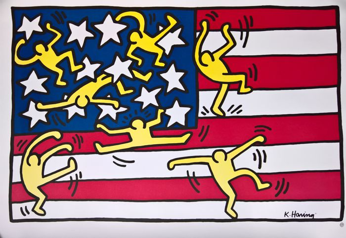 (After) Keith Haring - American Flag