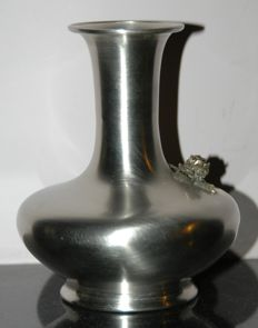 Antique Silver Plated Vase, European, 20th Century