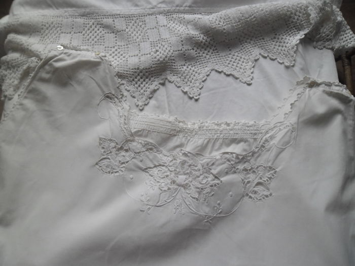 Lot of romantic linen