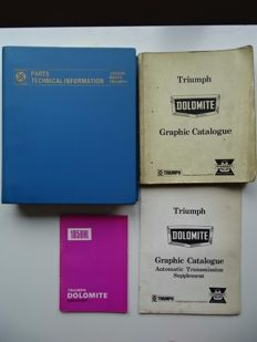 1972 - 1978 - TRIUMPH Dolomite Sprint, Dolomite & Dolomite 1850HL - Mixed lot of 4 Repair & Operation Manual & Owner Manuals