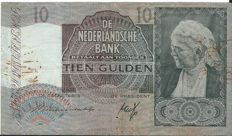 Netherlands - 10 guilders 1940 replacement - PL37.R