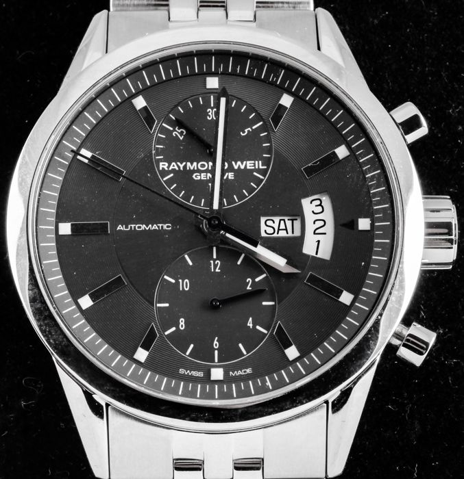 """Raymond Weil - """"NO RESERVE PRICE"""" FREELANCER - Swiss Automatic Chronograph - Best Chance only ONE DAY!!!"""" - Ref. No: 7735-ST-60001 - Excellent - Warranty - Hombre - 2011 - actualidad"""