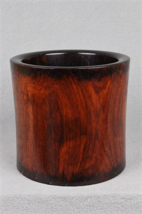 A modern rosewood Brush Pot, Bitong - China - 21st century