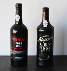 1994 Late Bottled Vintage Port: Quinta do Noval & Niepoort - 2 bottles in total