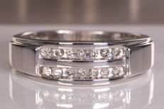Diamond / brilliant ring - Size 20.60mm - No Reserve price!