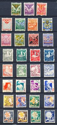 The Netherlands 1925/1933 - Syncopated perforation (child) relief stamps - NVPH R71 through R101