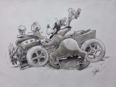 Garrido, Sergio - Original drawing - Goofy makes a car