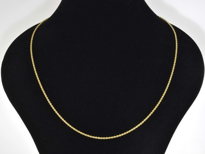 "18k Gold Necklace. Chain ""Cord"" - 50 cm"