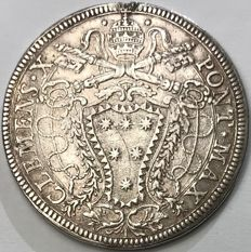 Papal State - Piastre 1675 Clemens X - Silver