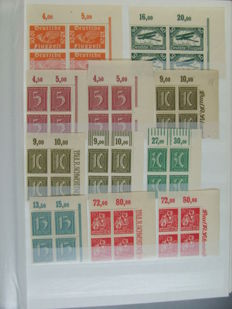 German Reich - collection mostly with blocks of 4, corners, upper edges and blocks of four
