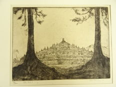 6 prints by Jan Poortenaar (1886-1958) - Borobudur, six etchings - 1939