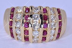 1.83 Ct Ruby and Diamonds ring NO reserve price!