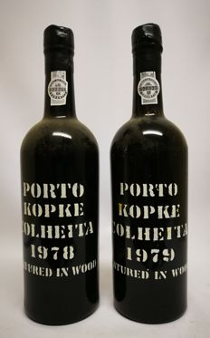 Colheita Port Kopke: 1978 - bottled in 2009 & 1979 - bottled in 2008 - 2 bottles in total