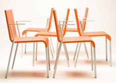 Maarten van Severen for Vitra - Set of six armchairs, model .03 (Limited Edition in Dutch Orange)