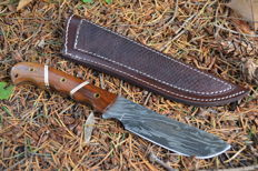 Kitchen Damascus Knife Wild Wood