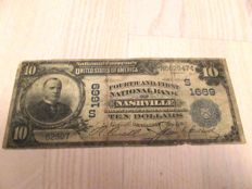USA - National Currency - 10 Dollars 1902 - Fourth and First National Bank of Nashville
