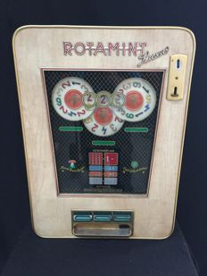 Antique slot machine Rotamint Luxus