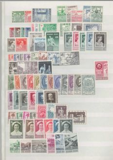 Belgium 1930/1954 - Collection of stamps with various complete series