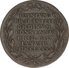 Brabant Revolution (Brabantse omwenteling) - Token weighing 4 liards 1790