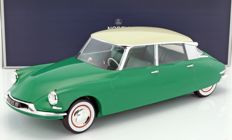 Norev - Scale 1/12 - Citroën DS19 1956 - Green / White - Limited edition 1000 pieces