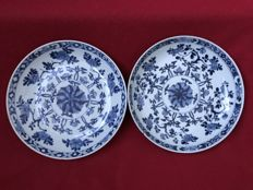 Blue & white pair of dishes - China - ca. 1700 (Kangxi period)