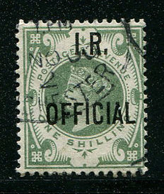 Groot-Brittannië 1887/90 - Queen Victoria dienstzegel 1 shilling dull green IR Official - Stanley Gibbons O15