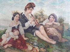 Unknown painter - Pique nique en famille