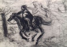Théophile Alexandre Steinlen (1859-1923) - Two drawings