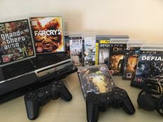 Sony PS3 60GB Console + 2 Official SONY Wireless Controllers + 10 Games
