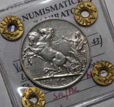 Kingdom of Italy, 1930 – 10 Lire,  'Chariot' - Vittorio Emanuele III - silver