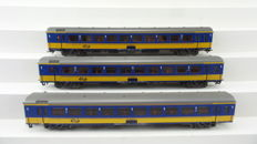Märklin/Hamo H0 - 8464 - 3 Express train passenger carriages with fitted interior 1st class ICR of the NS