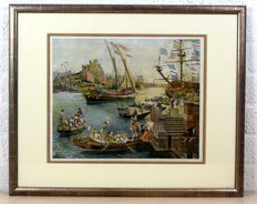Print Harbour View - Middle Ages