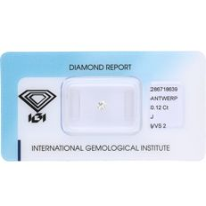 0.12 ct brilliant cut diamond, J VVS2