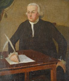 Continental school (18th century) - Portrait of a gentleman writing a letter