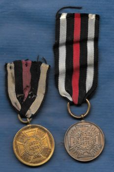 War Memorial medal for the campaigns of 1870 and 1871 with ribbon - 2 x