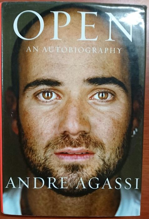 """Book """"Open an autobiography"""" of 2009 by Andre Agassi with his signature inside"""