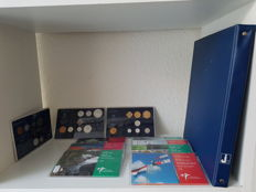 Curaçao, Antilles, Suriname - Coin album with 67 coins incl. silver and year packs 1983/2013