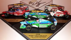 Onyx - Scale 1/43 - Lot with 3 models: 1 x Bennetton 1994 Signed & 2 x Arrows 1996 - Jos Verstappen