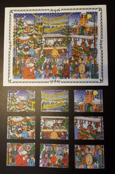 "Belgium 1967/2008 - Topical collection ""Christmas and New Year with stamps, blocks, sheets, FDCs and post folders"