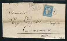 France 1870 - Lot of 4 classic letters with Bordeaux issue including an Yvert no 44B and a no 47