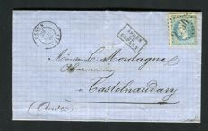 France - Lot of 8 classic Letters including those to Italy, from small towns, with franking marked September 1871 and others