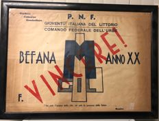 Paper bag for toys received at the Epiphany, Fascist era PNF 1942