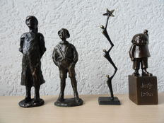 Corry Ammerlaan van Niekerk - 3 bronze sculptures + 1 bronzed sculpture, Z.K.H. Princess Beatrix