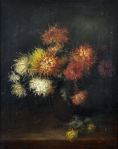 E. M. Siever? (19th century) - A still life of flowers