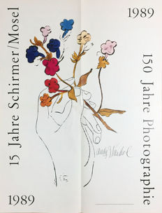 Andy Warhol (after) - 150 Jahre Schirmer/Mosel (Hand with Flowers) - 1989