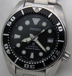 "Seiko Prospex Automatic ""Sumo"" Diver's 200 m Black – Made in Japan - New - Men's - NO RESERVE PRICE - New ""Sumo"" watch"