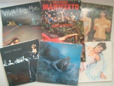 Roxy Music - Lot with eight LP Albums