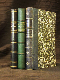 Set of 3 books on travel - Cambodia, China & Madagascar - 1854/1886