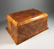 Rosewood documents box with bevelled edges - France - early 20th century
